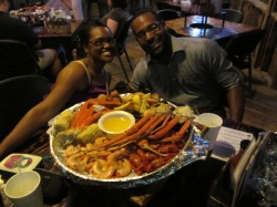 Me and The Mister at The Crab Shack, Tybee Island, Ga.