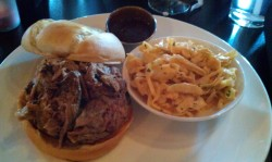 My Kingdom for Some Pork! and spicy coleslaw at The Bard's Town.