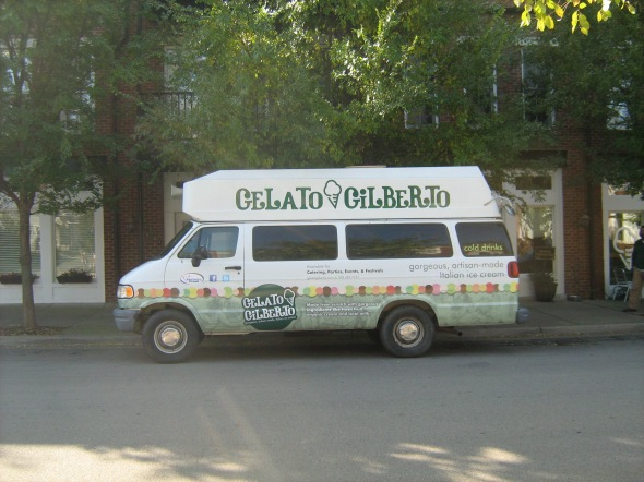 Be on the lookout for the Gelatomobile (Picture courtesy of Kristin Gilbert).