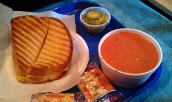 Grilled cheese and tomato bisque from The Main Eatery.