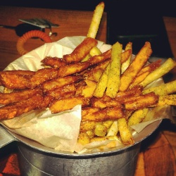 Dueling fries at AP Crafters.
