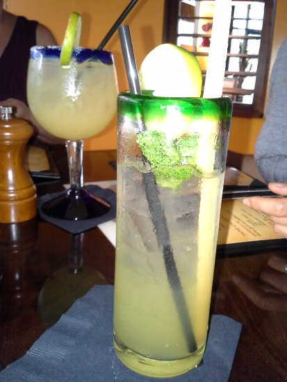 A margarita and mojito to get the party going at Havana Rumba Express.