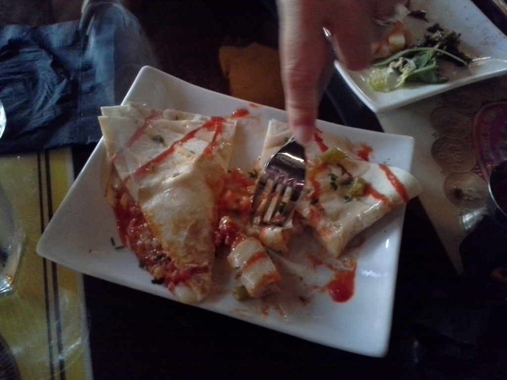 Lobster quesadilla at Havana Rumba Express.