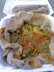 A full, un-Instagrammed view of the Ethiopian Vegetarian.