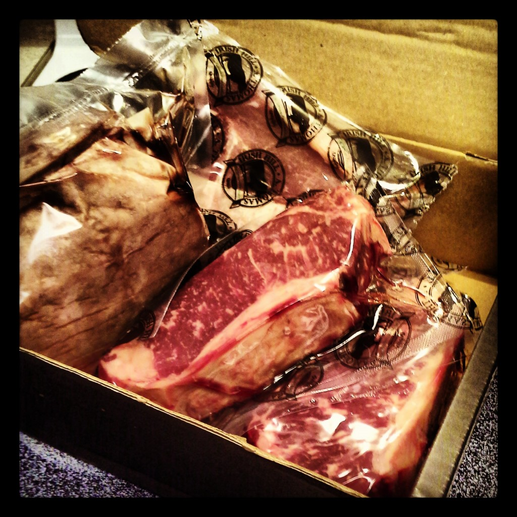 A box of meat from Mattingly.