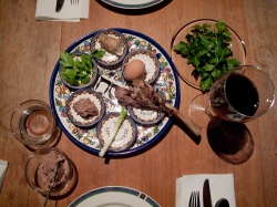 A Seder plate. (Photo courtesy Robert Couse-Baker via Flickr)