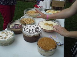 Nine entries in the banana pudding bake-off.