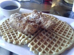 Chicken and waffles from Good Ole Jessie's Diner on Dixie Highway, one of the subjects of the book.