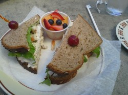 Chicken salad sandwich at The Cafe.