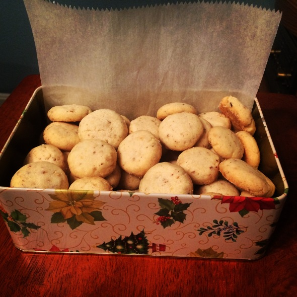 Lemon-pecan shortbread cookies. Survey says: YAAAAS.