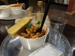 A small pasta bowl at Strati Wild Italian. And yes, it pairs well with a little bottle of wine.