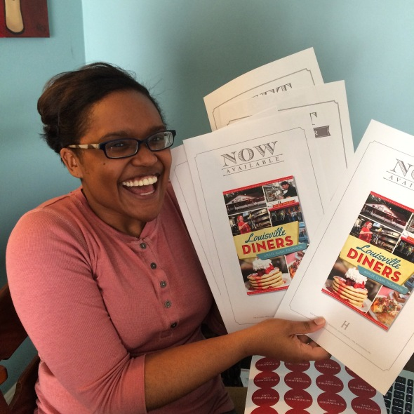The look of pure glee when I received promotional posters for Louisville Diners in the mail. Thanks, History Press! PS, excuse my haggard appearance. It was a work from home day, y'all.