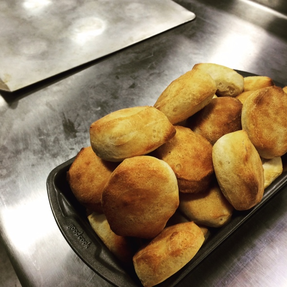 Just one of many loads of biscuits CNET Appliances bakes to test ovens.